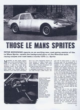 Le Mans Sprite Article
